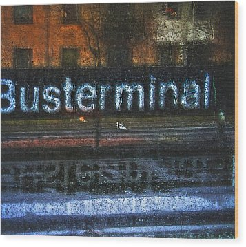 Busterminal Wood Print by Odd Jeppesen