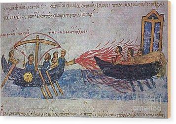 Byzantine Sailors  Wood Print by Photo Researchers
