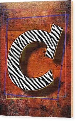 C Wood Print by Mauro Celotti