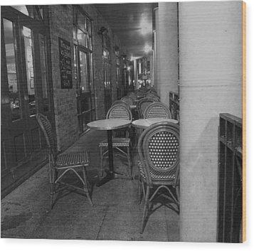 Cafe Rouge Wood Print by Anna Villarreal Garbis
