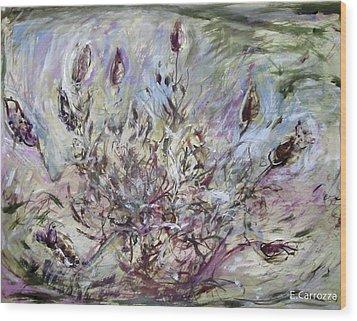 California Lavender Wood Print by Elizabeth Carrozza