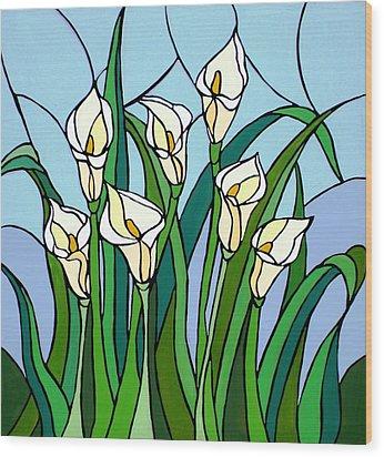 Calla Lilies Wood Print by JW DeBrock