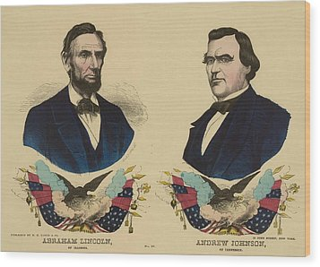 Campaign Banner For The Republican Wood Print by Everett