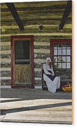 Canadian Gothic Wood Print by Steve Harrington