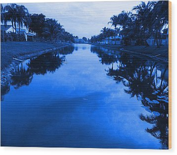 Canal View Wood Print by Val Oconnor