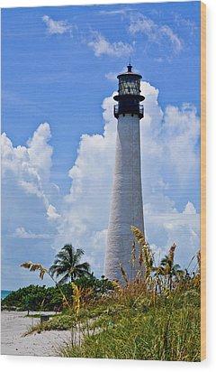 Cape Florida Lighthouse Wood Print by Julio n Brenda JnB