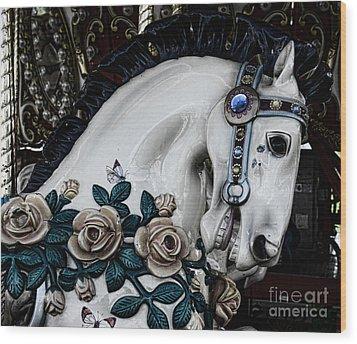 Carousel Horse - 8 Wood Print by Paul Ward