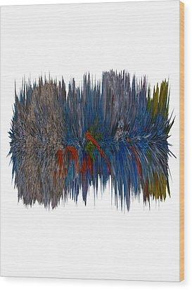 Cat Hair Ball Wood Print by Robert Margetts