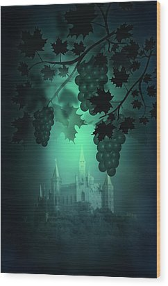 Catle And Grapes Wood Print by Svetlana Sewell