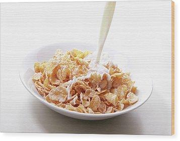 Cereal Food Wood Print by Yuji Kotani