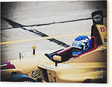 Champ Car Driver Wood Print by Darcy Michaelchuk