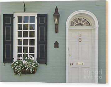 Charleston Doorway - D006767 Wood Print by Daniel Dempster