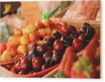 Cherry Me Wood Print by Renee Ballek