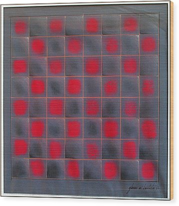 Chessboard 1982 Wood Print by Glenn Bautista