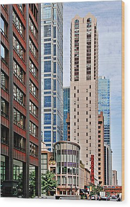 Chicago - Goodman Theatre Wood Print by Christine Till