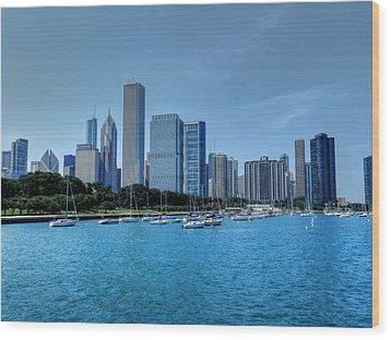 Chicago Tm 028 Wood Print by Lance Vaughn