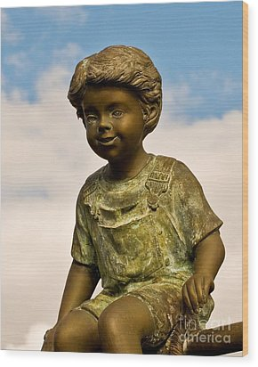 Child In The Clouds Wood Print by Al Powell Photography USA