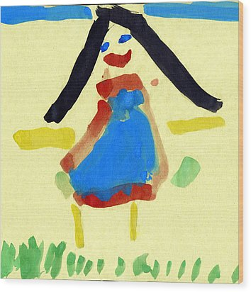 Child's Painting Wood Print by Sheila Terry
