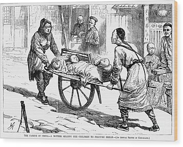 China: Famine, 1877 Wood Print by Granger