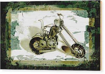 Chopper 1 Wood Print by Mauro Celotti