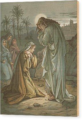 Christ In The Garden Of Gethsemane Wood Print by John Lawson