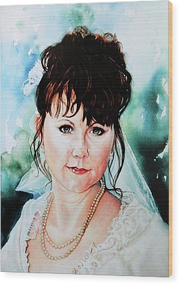 Christis Wedding Day Wood Print by Hanne Lore Koehler