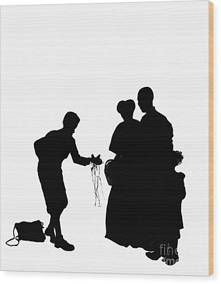 Christmas Gift - A Silhouette 1a Wood Print by Reggie Duffie