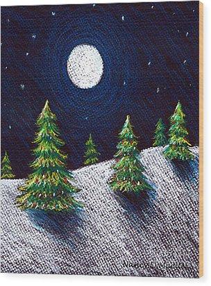 Christmas Trees II Wood Print by Nancy Mueller