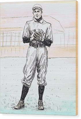 Christy Mathewson Wood Print by Mel Thompson