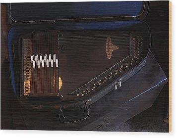 Chroma Harp Wood Print by Viktor Savchenko