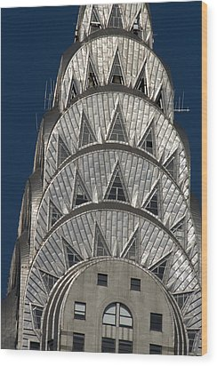 Chrysler Building - New York Wood Print by Martin Cameron