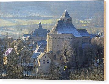 Church, Sainte Eulalie D'olt Wood Print by Copyrights by Sigfrid López