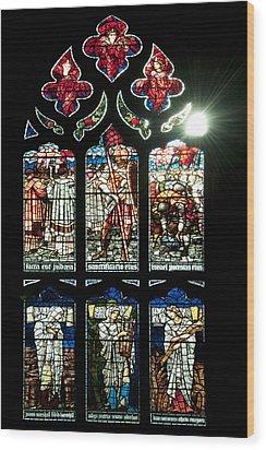 Church Window I Wood Print by Svetlana Sewell