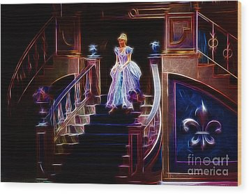 Cinderella Enters The Ball Wood Print by Darleen Stry