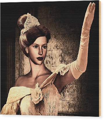 Cinderella Wood Print by Lourry Legarde