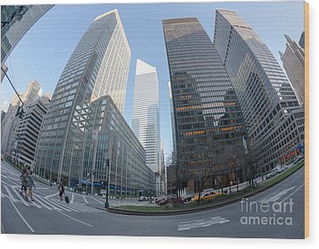 Citigroup Center From Park Avenue I Wood Print by Clarence Holmes
