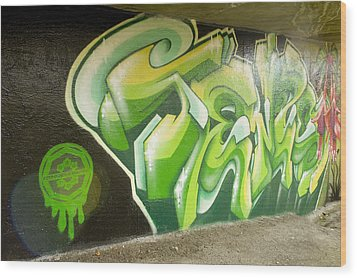 City Sponsored And Approved Graffiti Wood Print by Bill Hatcher