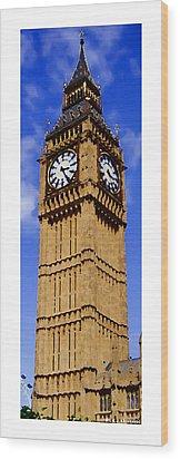 Citymarks London Wood Print by Roberto Alamino