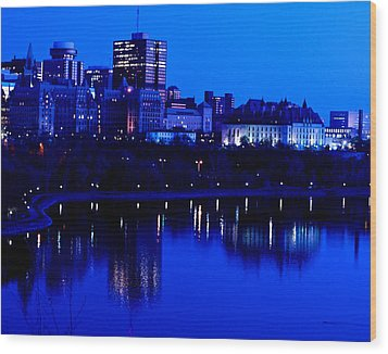 Cityscape Wood Print by Andre Faubert