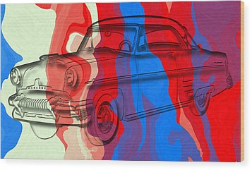 Classic Mercury Abstract Wood Print by David G Paul