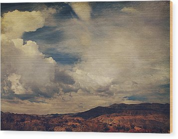 Clouds Please Carry Me Away Wood Print by Laurie Search