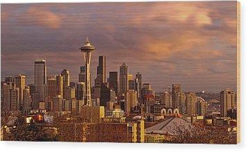 Cloudscrapers Wood Print by Dan Mihai