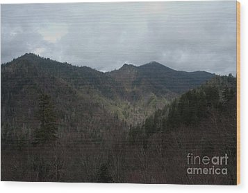 Cloudy Mountain Wood Print by Michael Waters