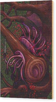 Club Smashes A Naphal Wood Print by Al Goldfarb