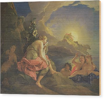 Clytie Transformed Into A Sunflower Wood Print by Charles de Lafosse