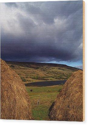 Co Cavan, Lake In West Cavan Mnts Wood Print by The Irish Image Collection