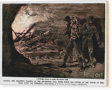 Coal Mine Explosion, 1884 Wood Print by Granger