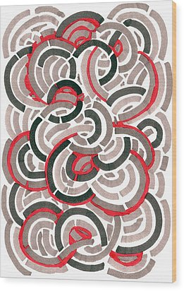 Coils Wood Print by Jason Messinger