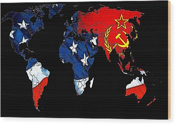 Cold War Map Wood Print by Steve K