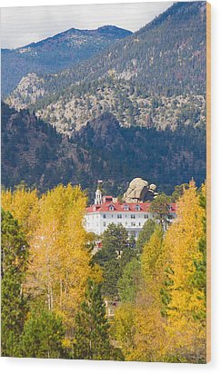 Colorado Estes Park Stanly Hotel Autumn View Wood Print by James BO  Insogna